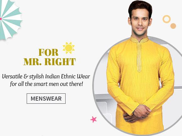 Sherwanis, Kurta Pyjamas, Nehru Jackets & more in store. Shop Now!