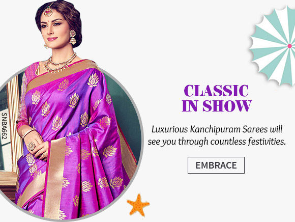 A lovely range of Kanchipuram Sarees. Shop Now!