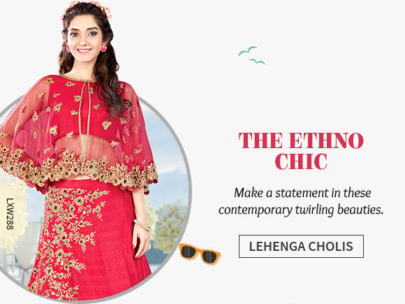 A wide array of srunning Lehenga Choils. Shop Now!