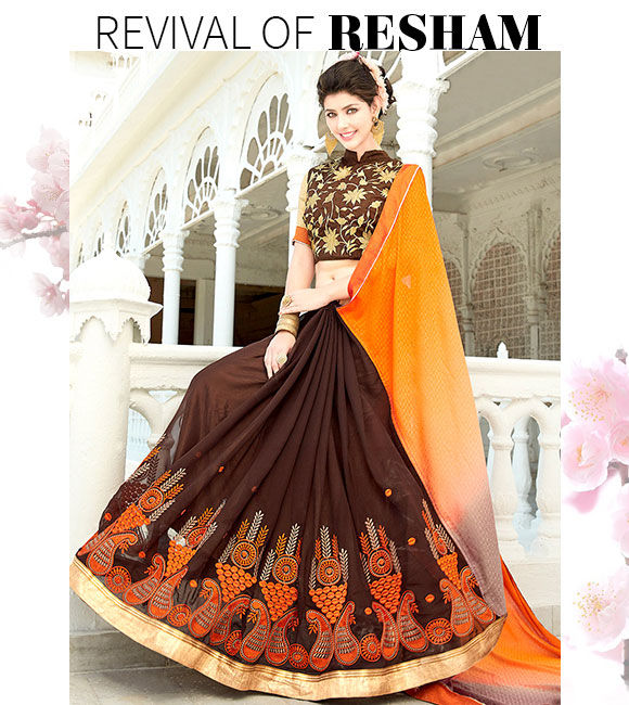 Explore fresh Resham Embroidered Attires. Buy Now!