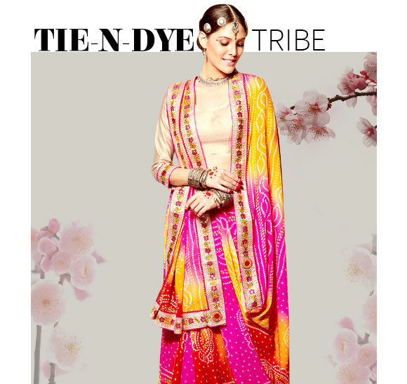 Explore fresh Tie N Dye Sarees. Buy Now!