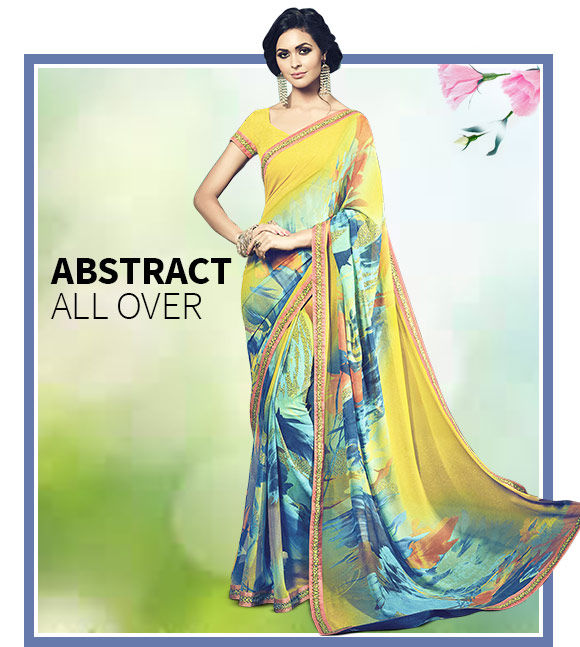 Lovely array of Sarees, Slawar Suits, Lehenegas & more in Abstract Prints. Buy Now!