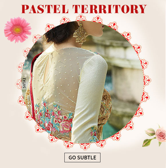 Pick beautiful wedding ensembles in Pastel shades. Shop Now!