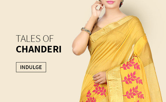 Choose from our beautiful Collection of Chanderi Sarees. Buy Now!