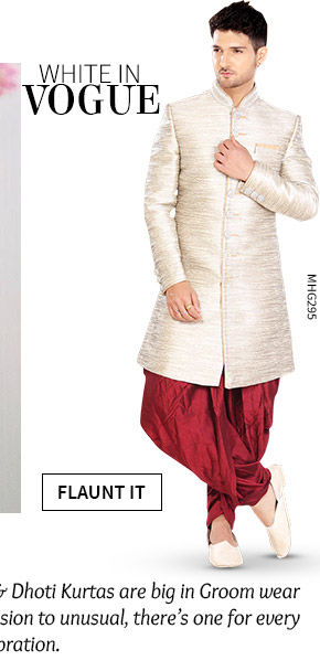 A versatile range of Menswear in White hue. Shop Now!