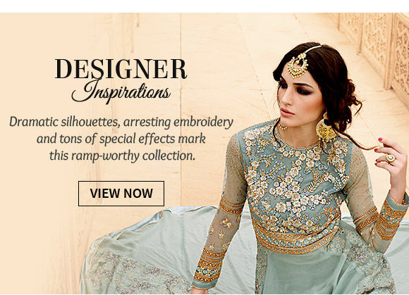 Designer inspired Ensembles with exclusive work and cuts for parties & special occasions. Shop!