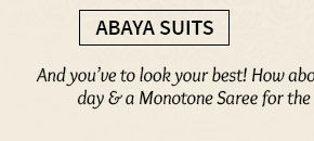A myriad of gorgeous Abaya Style Suits. Shop Now!