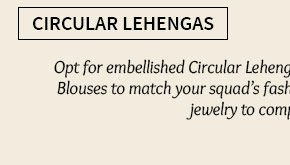 A lovely collection of Circular Lehenga Cholis. Shop Now!