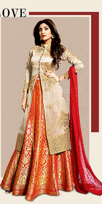 A lovely range of Indowestern Lehenga Cholis. Shop Now!