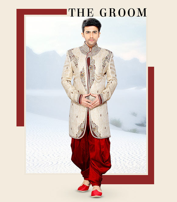 A smart range of Sherwanis. Shop Now!