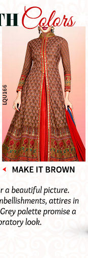 A beautiful collection of Ensembles in Brown hues. Shop Now!