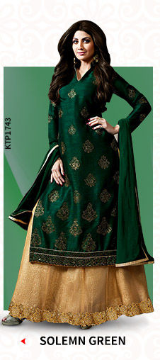 A beautiful collection of Ensembles in Green hues. Shop Now!