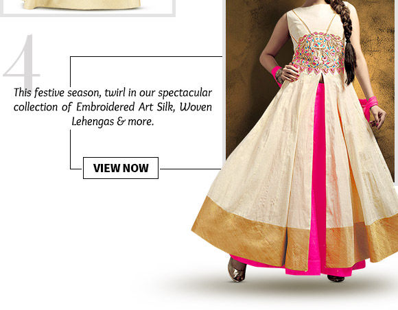 A huge range of eye-catching Embroidered Art Silk, Digital Printed, Woven Lehengas & more. Buy Now!