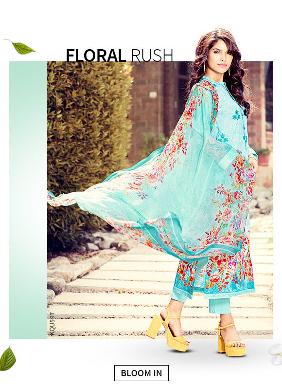 A lovely collection of Salwar Suits in Floral print. Shop!