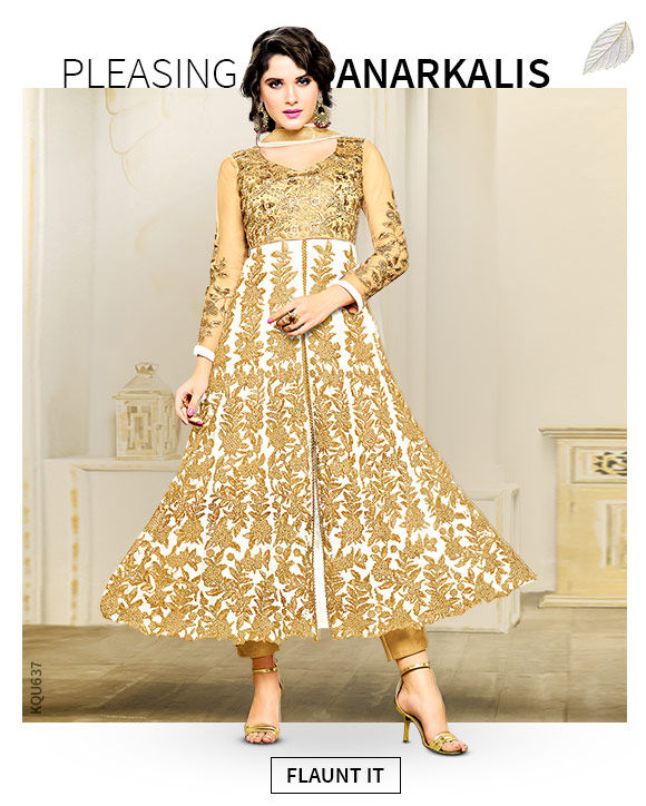 A wide array of gorgeous Anarkali Suits. Shop!