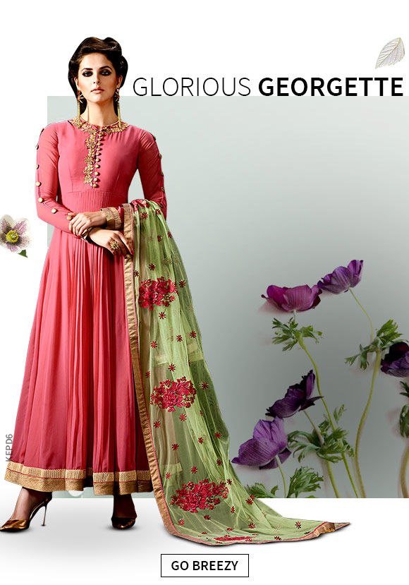 A lovely collection of Salwar Suits in Georgette. Shop!