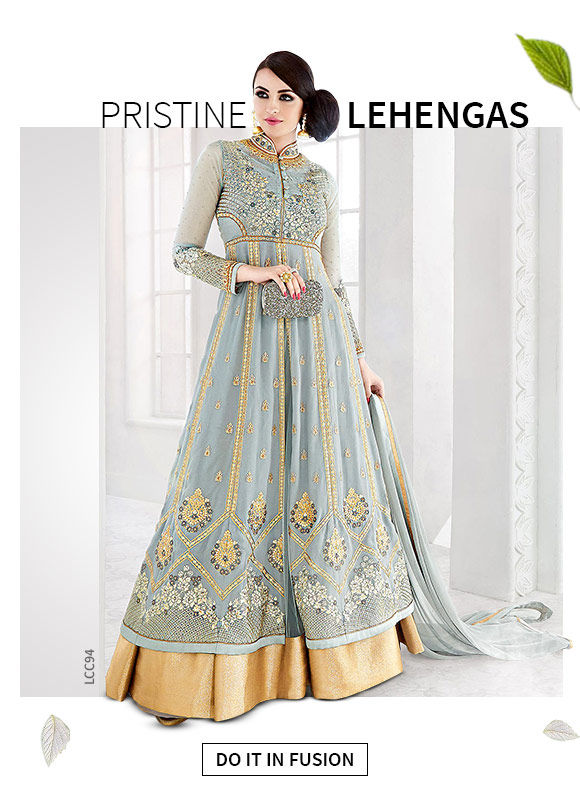 A gorgeous array of Indowestern Lehengas.