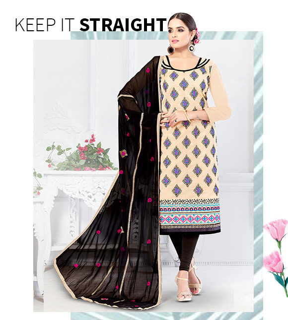 New Arrival in Chanderi Straight Cut Suits. Shop Now!