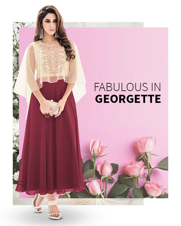 New Arrival in Georgette Fabric. Shop Now!