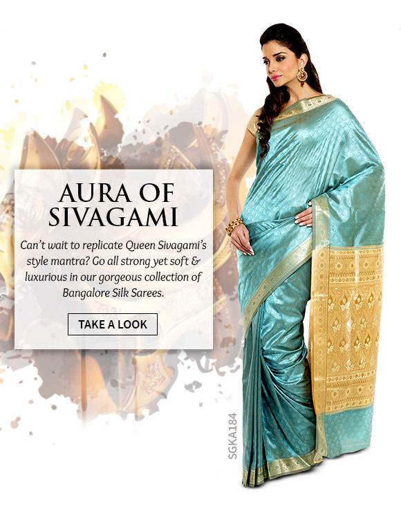 A lovely collection of Bangalore Silk Sarees. Shop Now!
