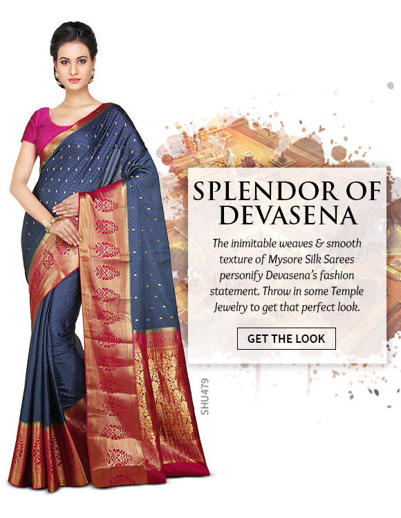 A gorgeous repertoire of Mysore Silk Sarees. Shop Now!