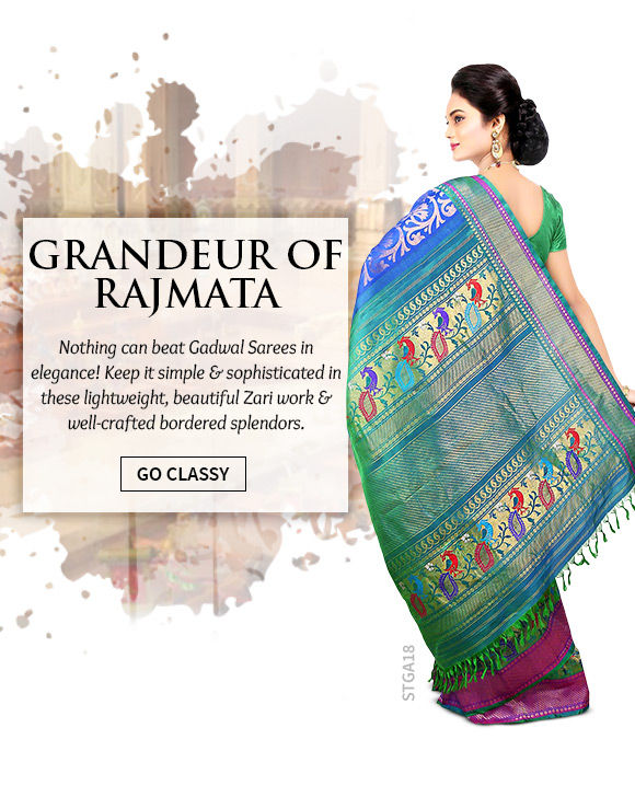 A lovely repertoire of Gadwal Sarees. Shop Now!