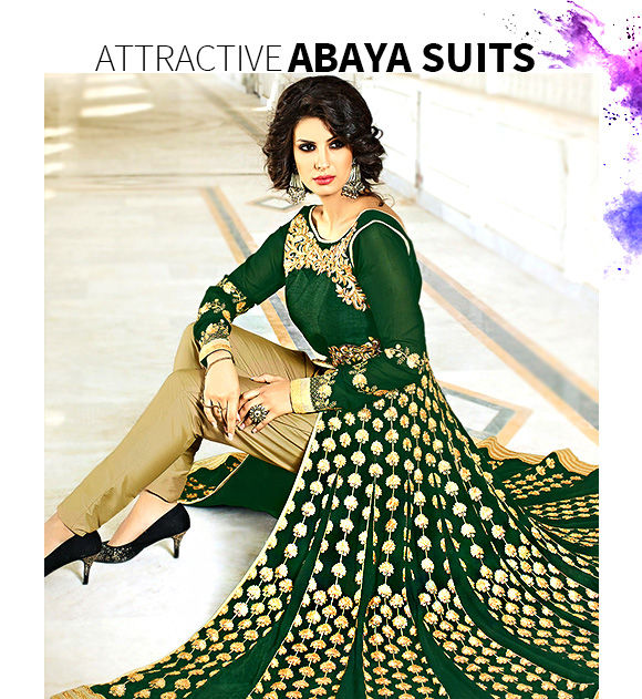 Get our latest range of Abaya Style Suits. Buy Now!