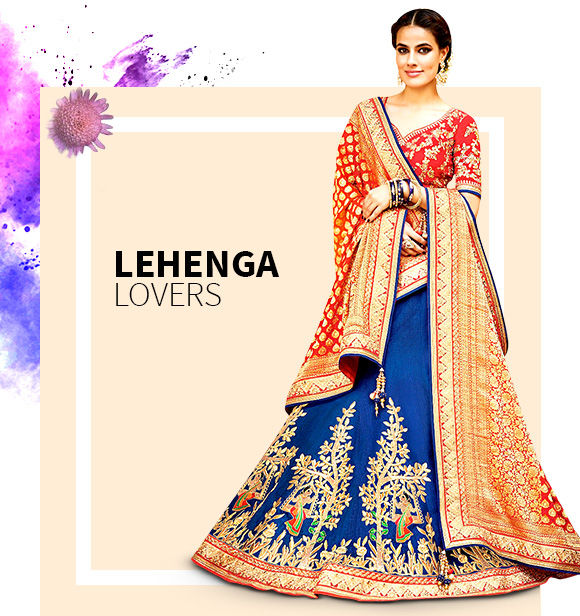 Get our gorgeous array of Lehenga Cholis. Buy Now!