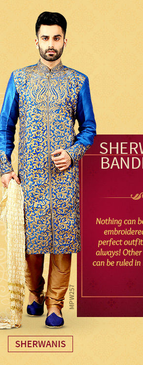 A versatile range of Sherwanis. Shop Now!