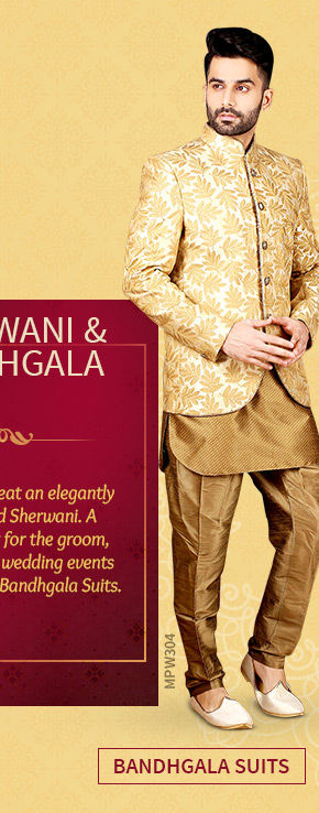 A versatile range of Bandhgala Suits. Shop Now!