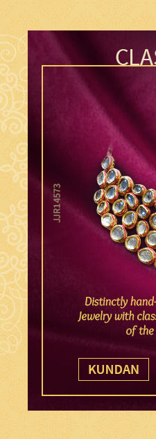A scintillating range of Kundan Jewelry. Shop Now!
