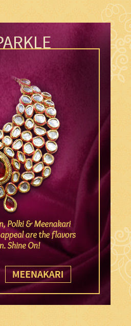 A beautiful range of Meenakari Jewelry. Shop Now!