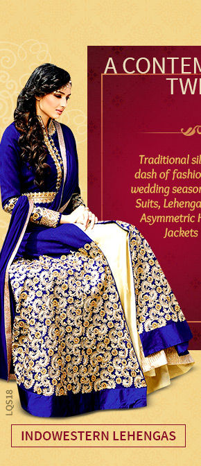 A lovely collection of Indowestern Lehenga Cholis. Shop Now!