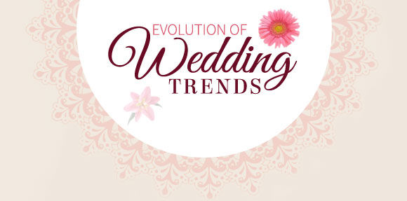 EVOLUTION OF WEDDING TRENDS
