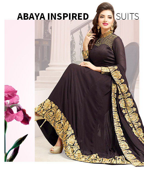 New Arrivals in Abaya Style Suits. Shop Now!