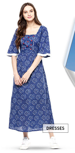 A wide range of lovely Ethnic Dresses. Shop Now!