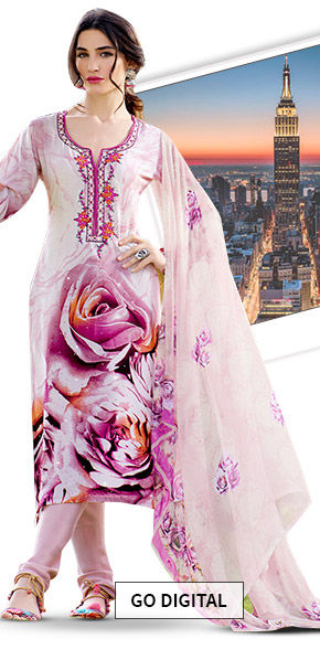 A wide array of gorgeous Sarees, Salwar Suits & Indowesterns in Digital Prints. Shop Now!