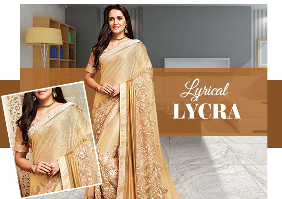 Lycra Sarees for trending parties. Shop!