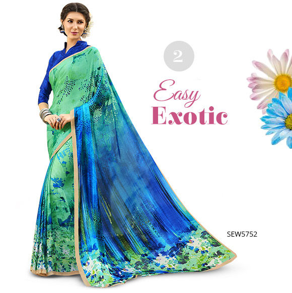 Printed Sarees for Summer. Shop!