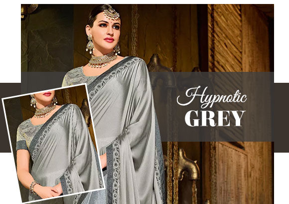 Trending Grey ethnic and fusion attires. Shop!