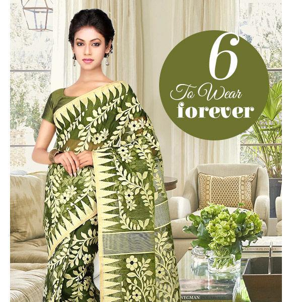 Handloom Silk Sarees in gorgeous designs. Shop!