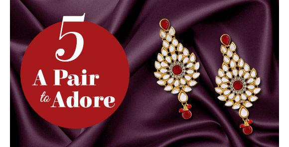 Kundan Work Earrings in gorgeous designs. Shop!