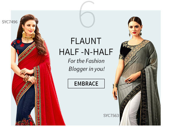 Half n Half Sarees for Summer Fashion. Shop!