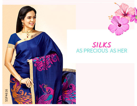 Mother's Day Gifting: Kanchipuram, Banarasi,Tussar Silk, Chanderi and Mysore Silk Sarees. Shop!