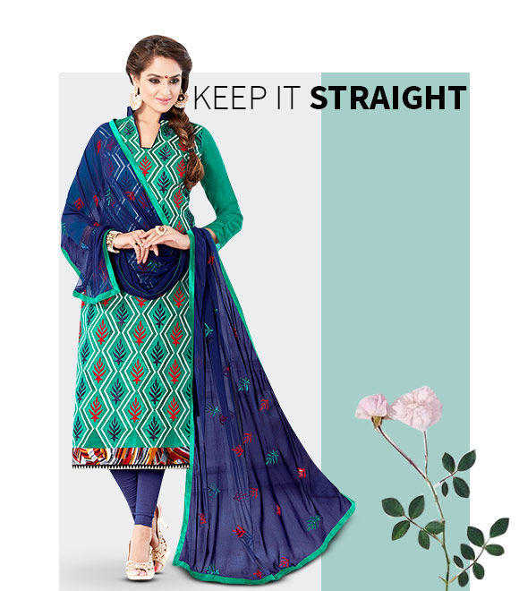New Arrivals in Straight Cut Salwar Suits. Shop Now!
