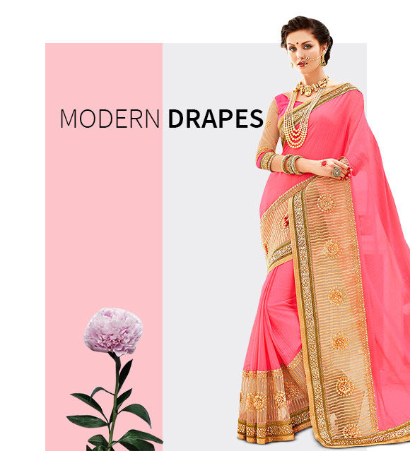 New Arrivals in Cotemporary Sarees. Shop Now!
