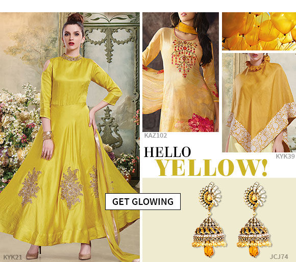 Shop all shades of scintillating yellow right here.