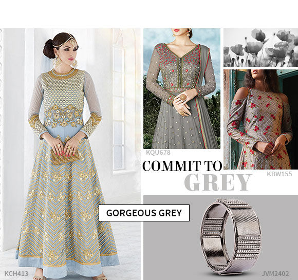 Shop the classic and the basic grey from our wide array of salwar suits.