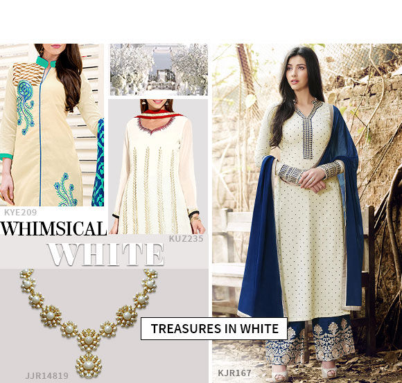 Pick white to look flamboyant this Eid.