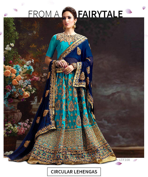 New Arrivals in Circular Lehenga Cholis. Shop!